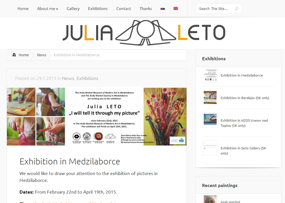WEB for special young artist