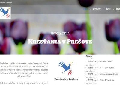 WEB pre kresťanské spoločenstvo